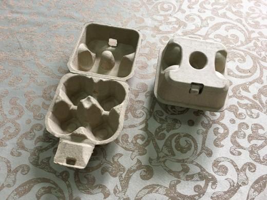 4粒凹洞蛋盒(黃漿/標準蛋4.5cm).....未稅價